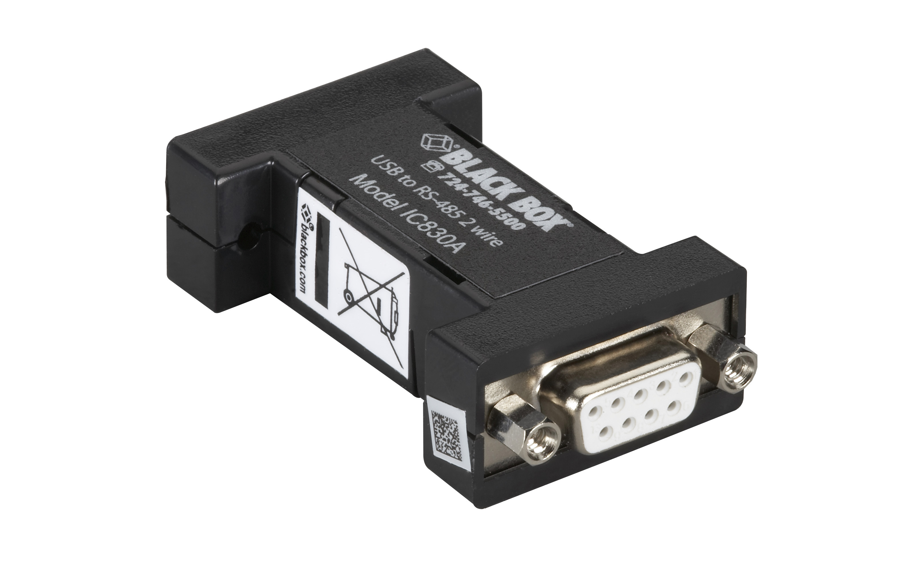 Usb 20 To Rs485 2 Wire Converter Db9 1 Port Black Box Pinout Also Power Cable Wiring Diagram In Addition Additional Product Image