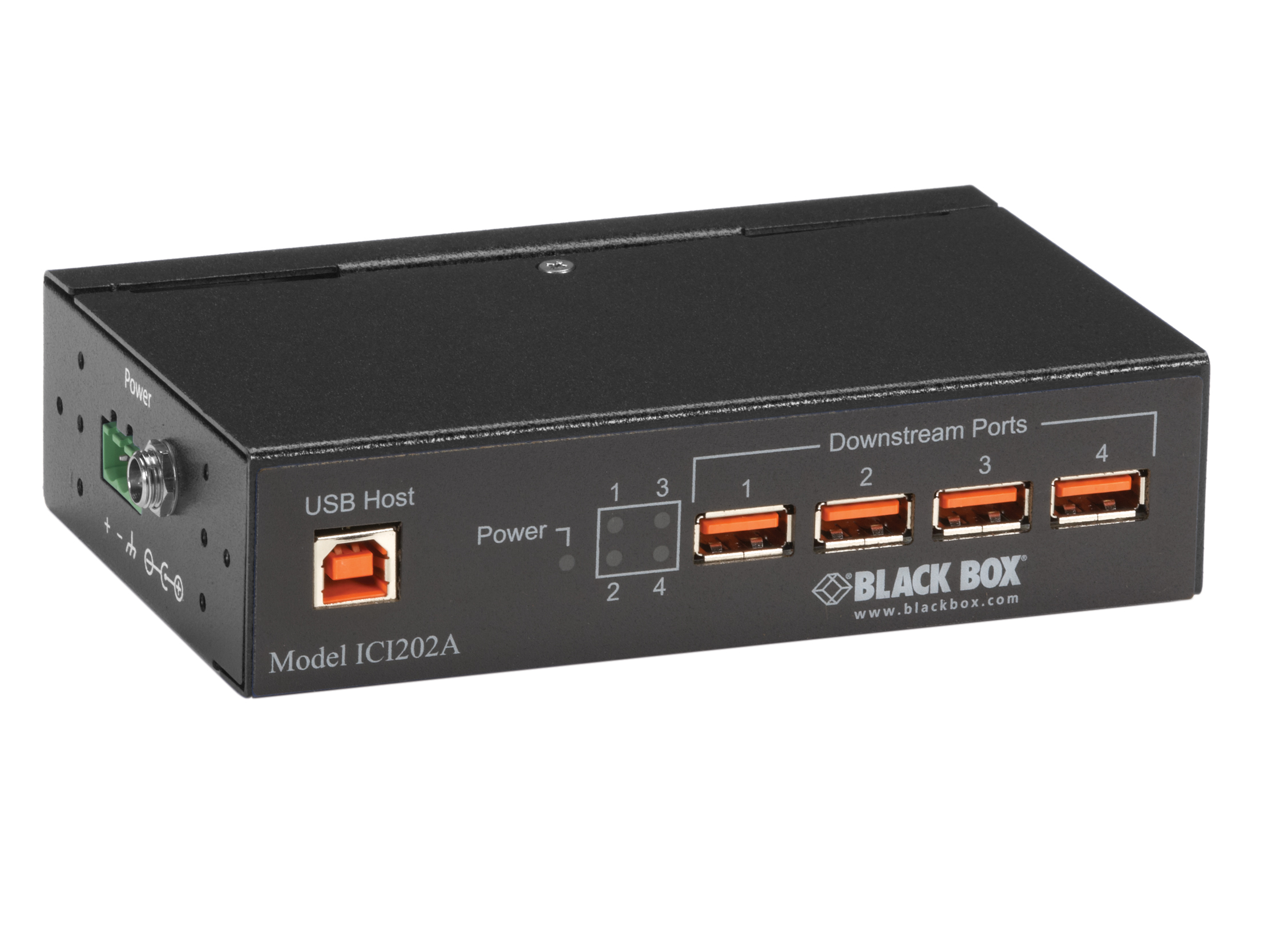 4 port USB 2.0 hub industrial with isolation
