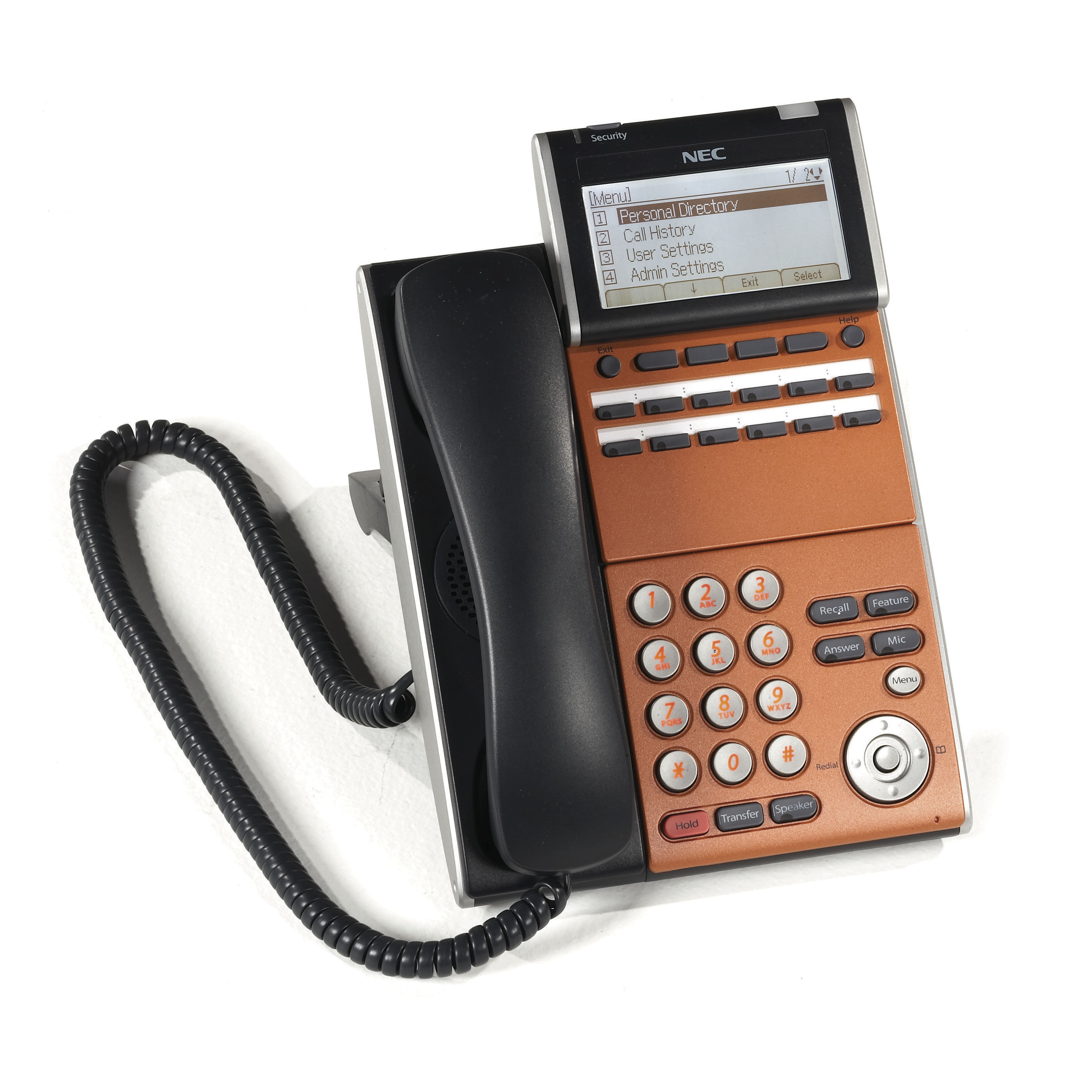 NEC DT700 Series Phone, Black, 690002