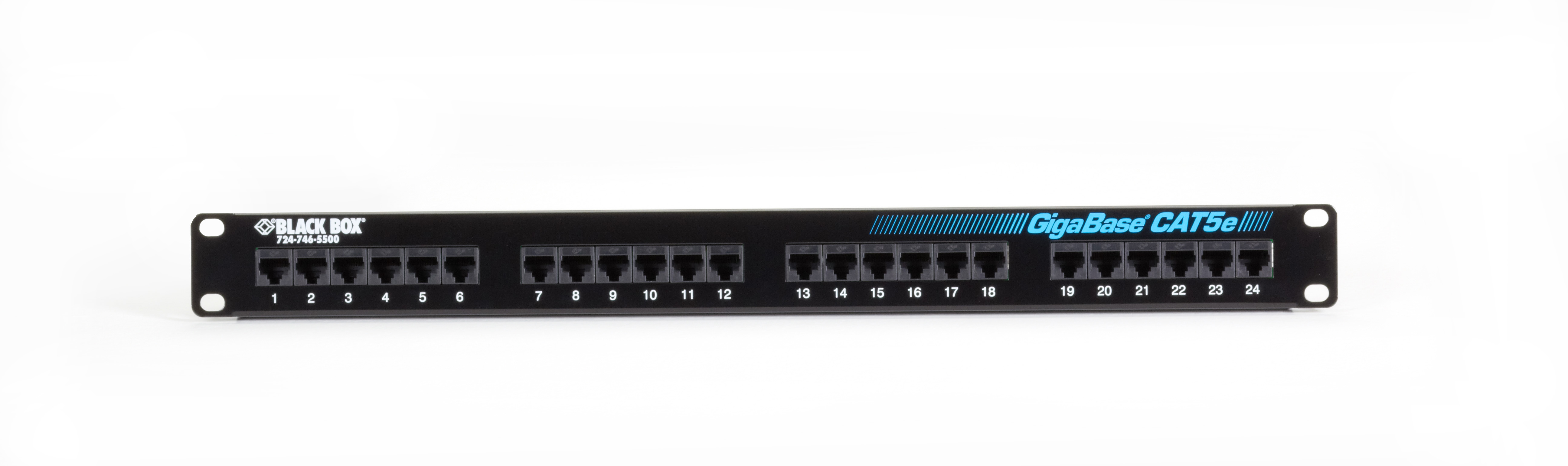 Cat5e Patch Panel 1u Unshielded 24 Port Gigabase Wall Jack Wiring Diagram R 568 Additional Product Image