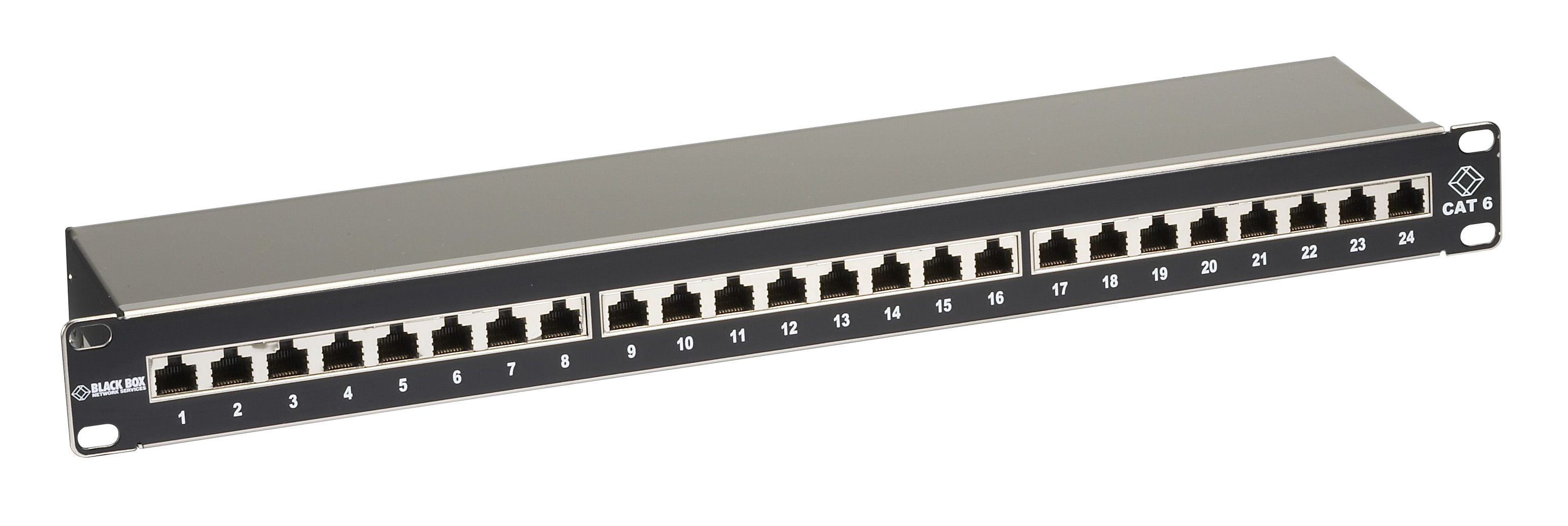 1u 24 Port Cat6 Shielded Patch Panel Black Box 19 Wiring Diagram Additional Product Image