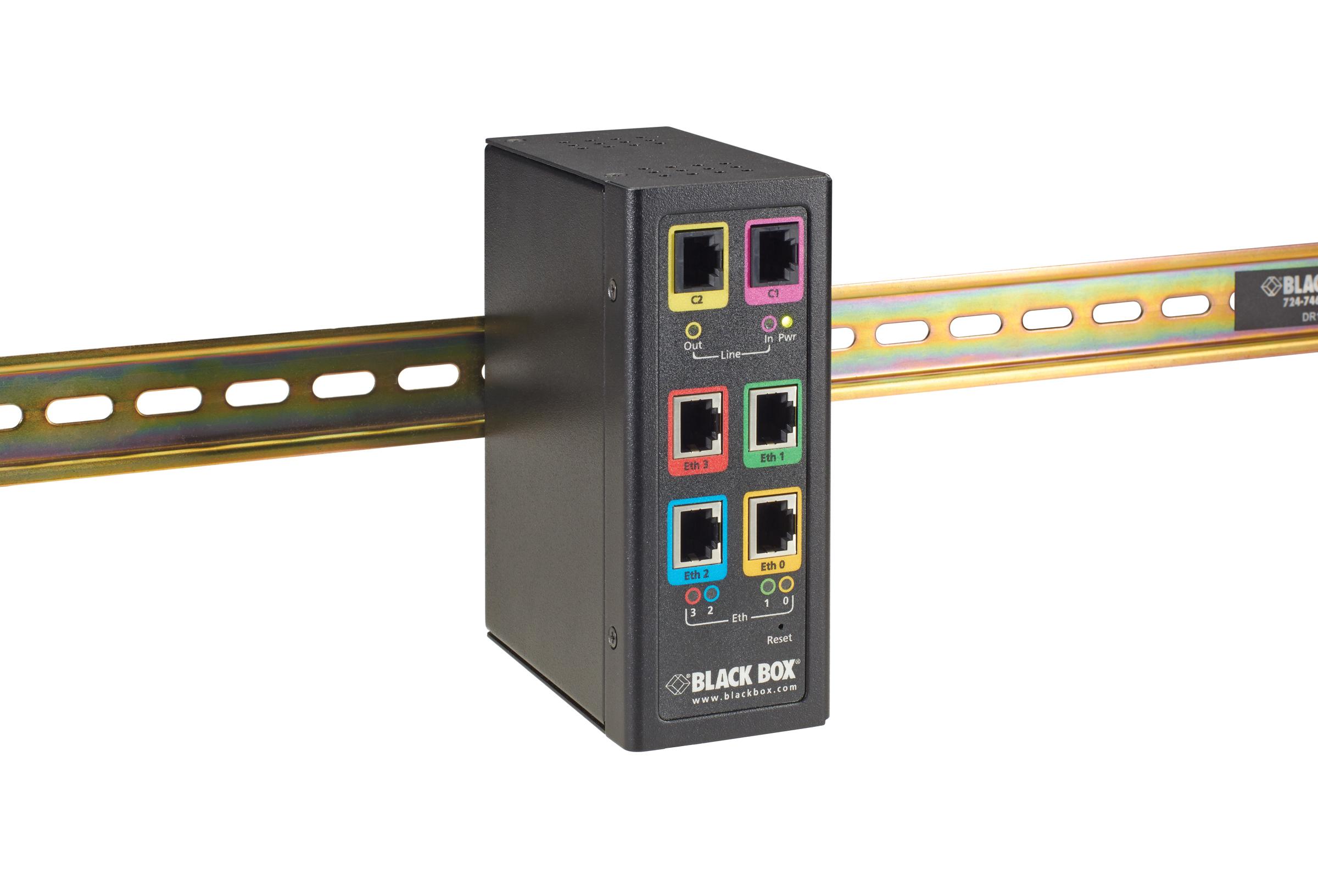 Industrial Ethernet Extender Multi-Drop Unit - G-SHDSL 2-Wire, 5.7 Mbps