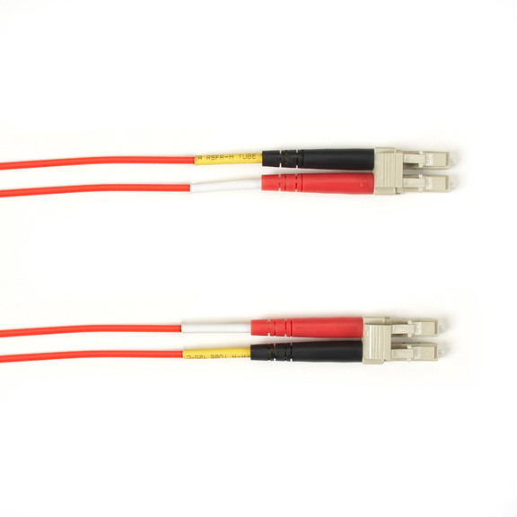 15 Meter Duplex Fiber Optic Patch Cable, Multimode, 50 Micron, OM4, LSZH, LCLC, Red, 15M (49.2-ft.)