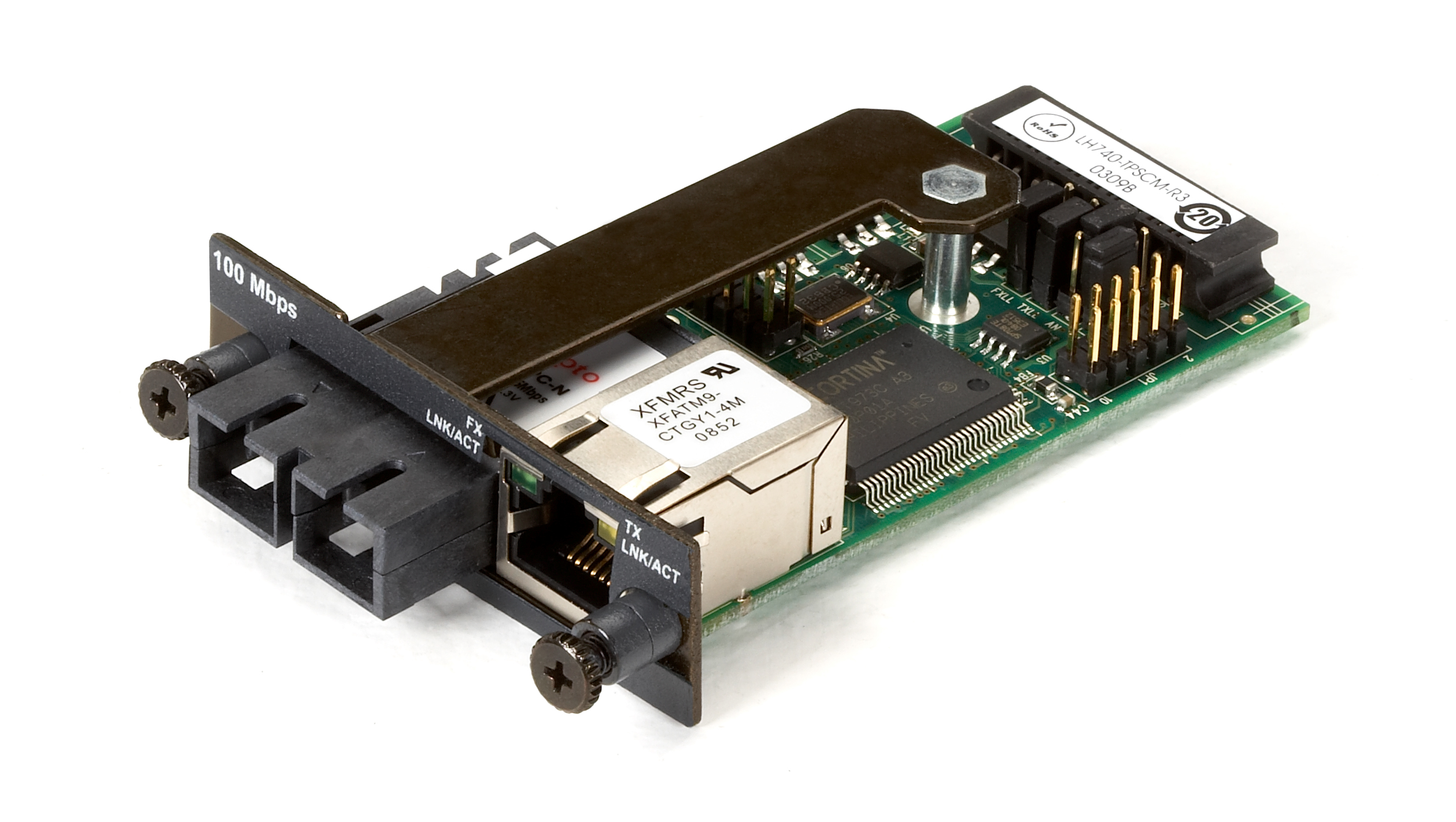 Media Converter Fast Ethernet Multimode 1310nm 2km Sc Black Box Voice Data Combination Module With Switch Additional Product Image