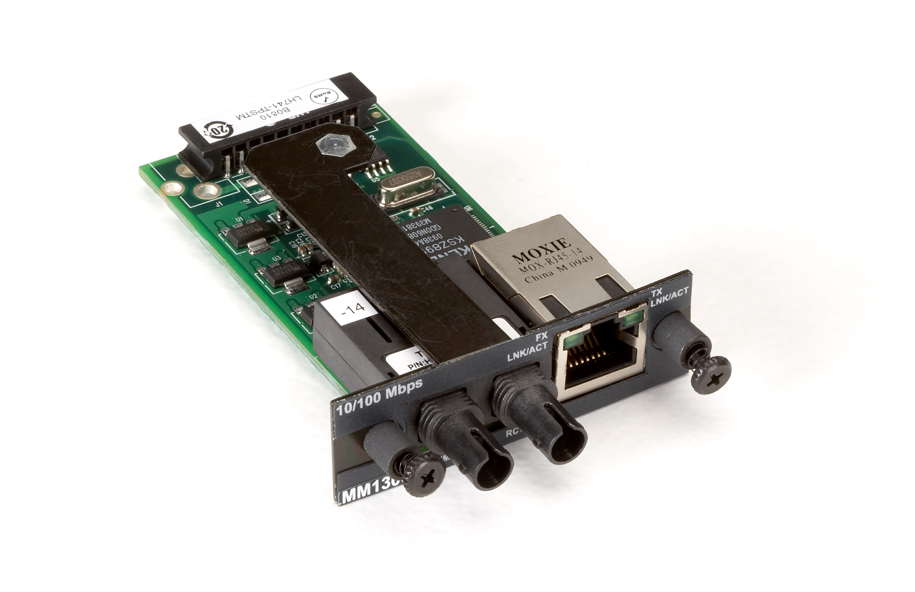 Media Converter Fast Ethernet Multimode 1310nm 2km St Black Box Unpowered Components Also In Circuit Without Risk Of Damaging Them Additional Product Image