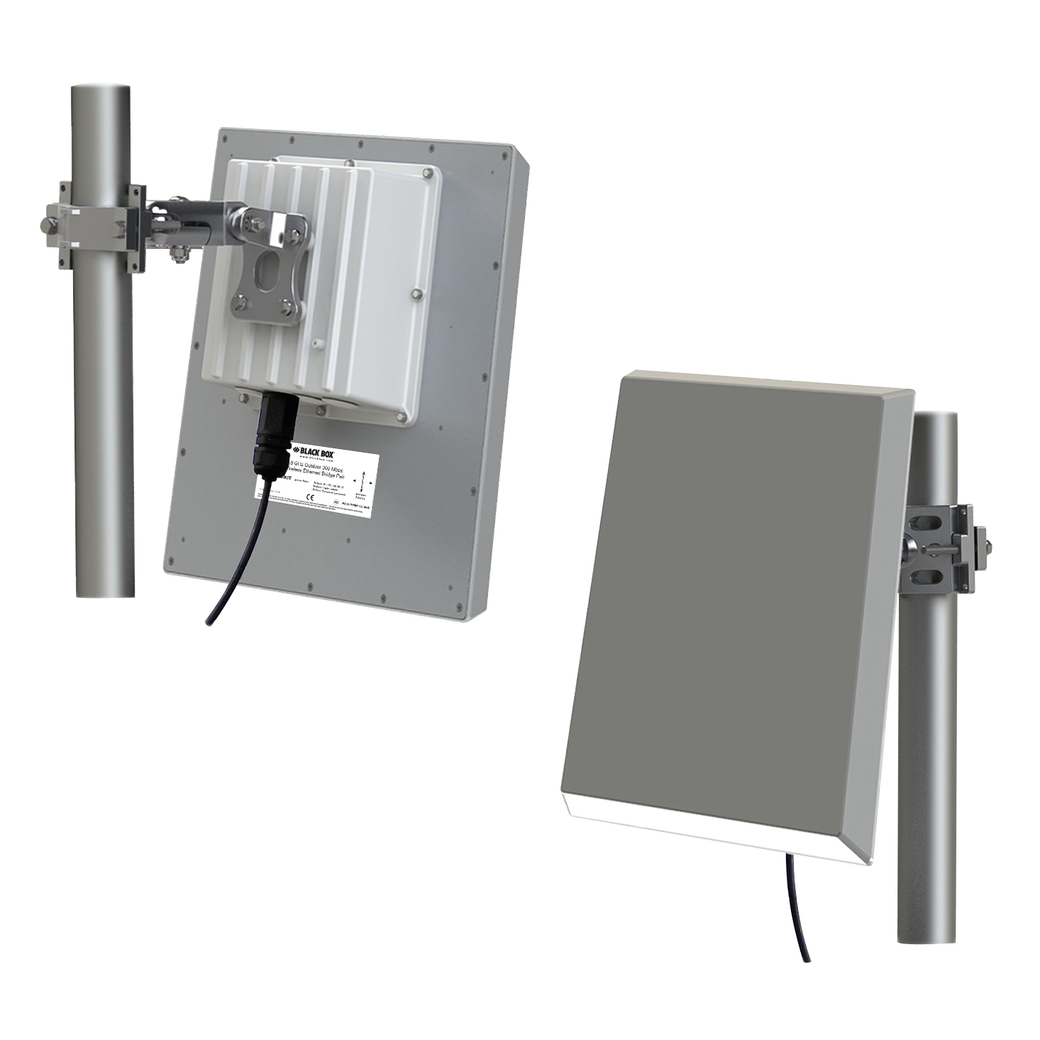 Outdoor Wireless Ethernet Bridge Kit Black Box Electrical Boxes Use Rubber Gaskets To Seal Out Weather Lwe200a