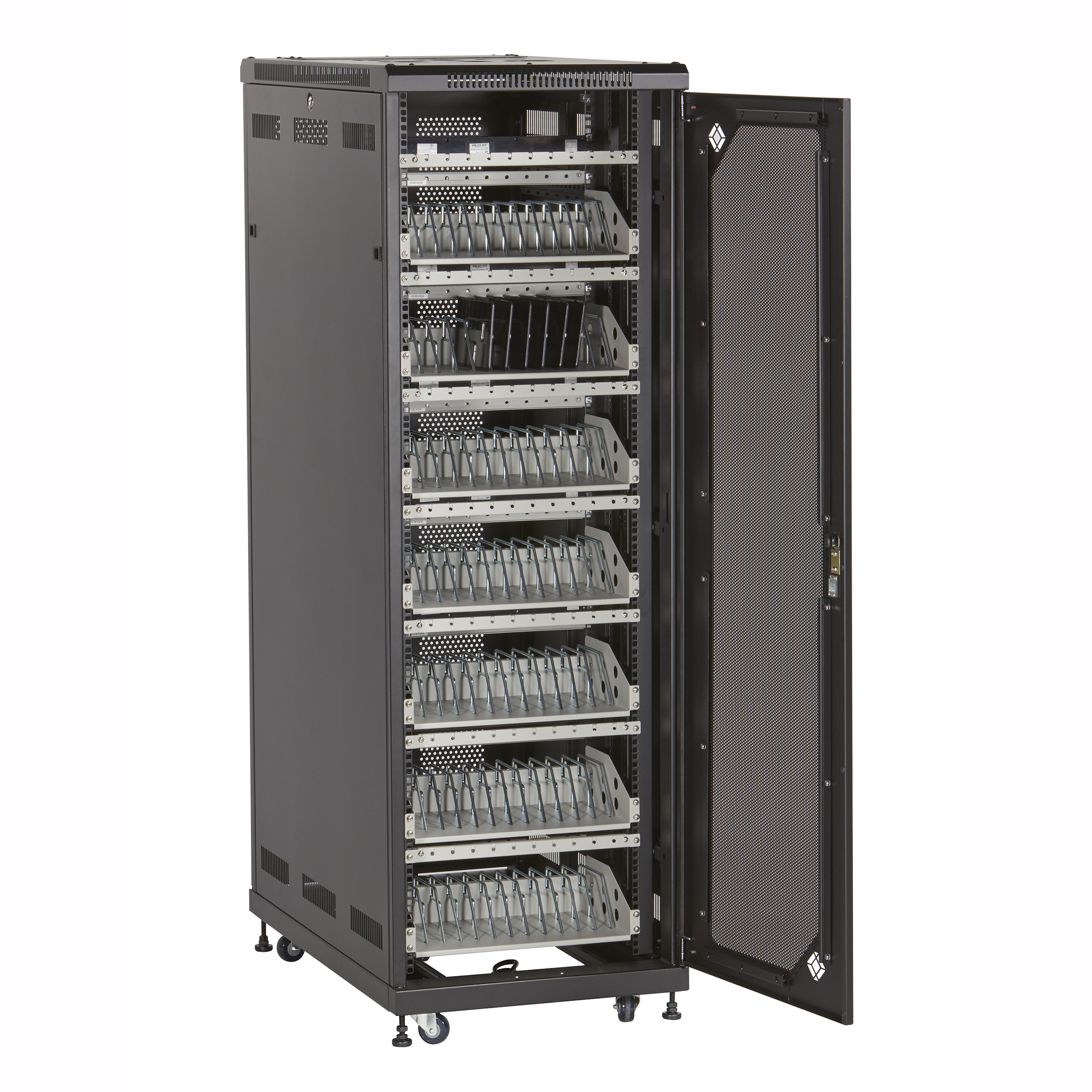 additional product image  sc 1 st  Black Box & 84-Device Mass Charging Cabinet with Cable Management | Black Box