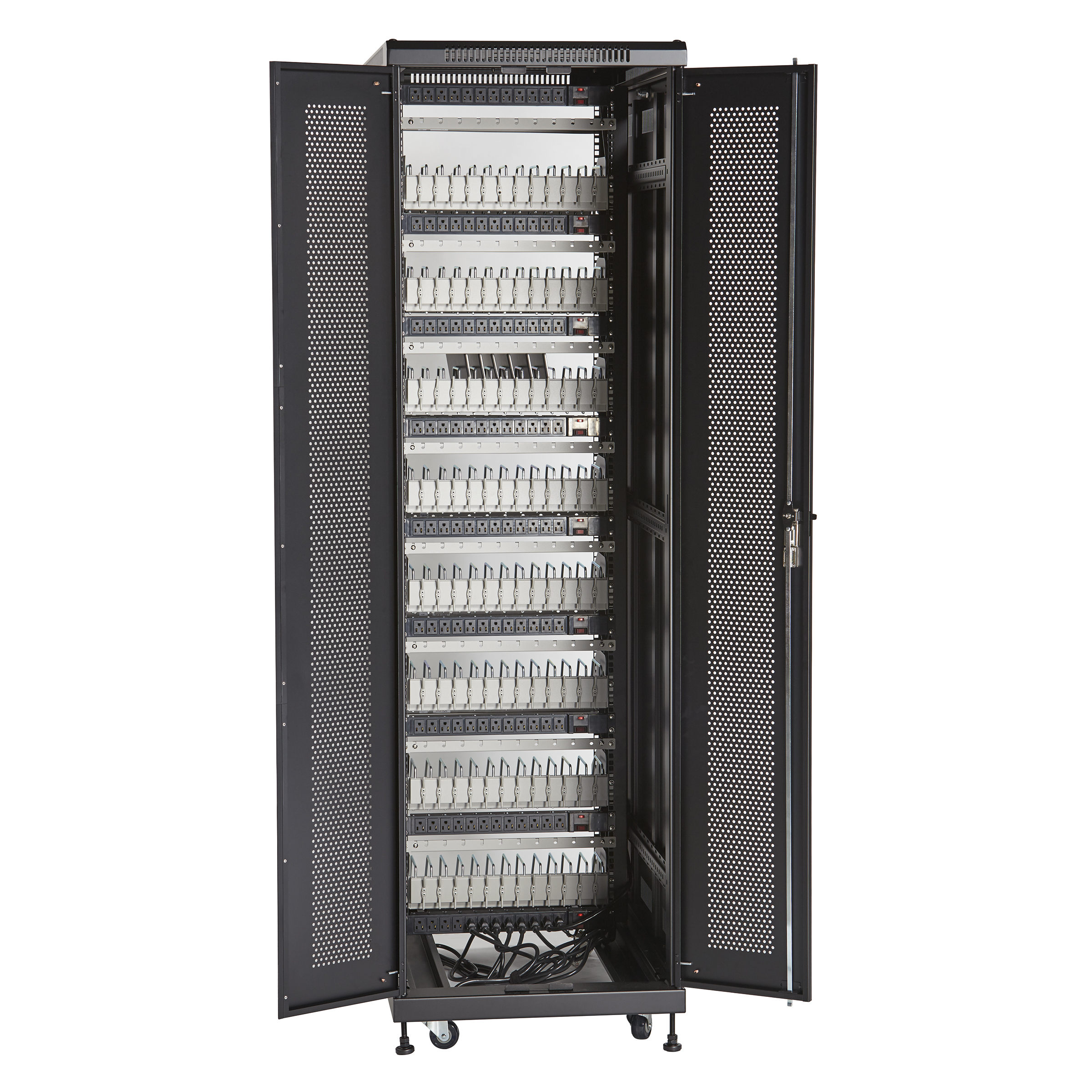 additional product image  sc 1 st  Black Box & 96-Device Mass Charging Cabinet with Cable Management | Black Box