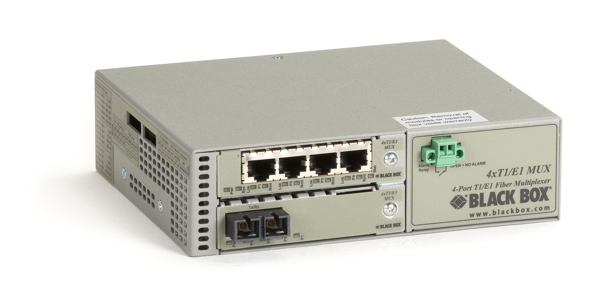 4 Port T1/E1 to Multimode Fiber Extender 5 km Dual SC