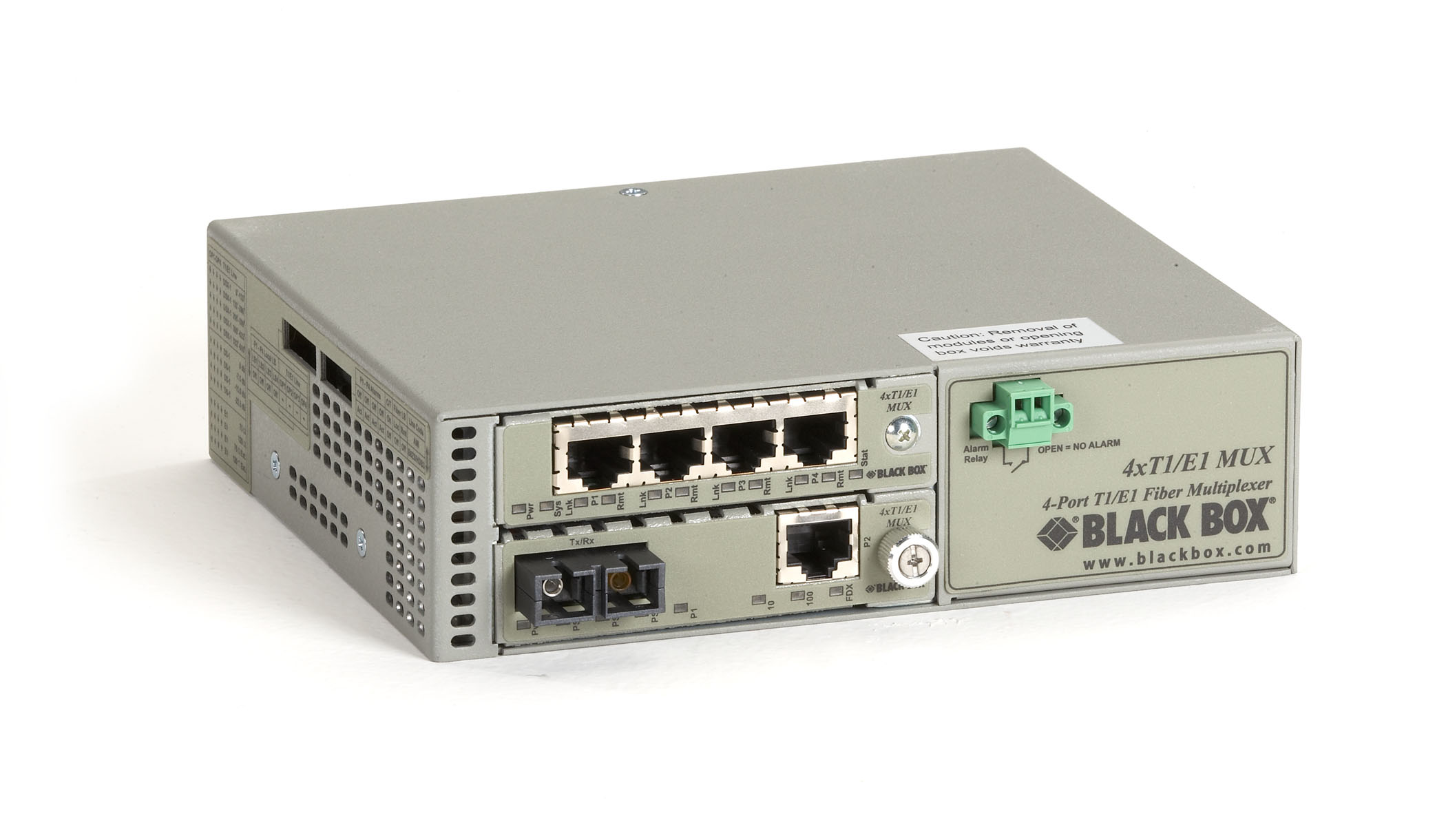 T1/E1 to Fiber Mux, Single-Mode Duplex SC, 30 km, with LAN Connector
