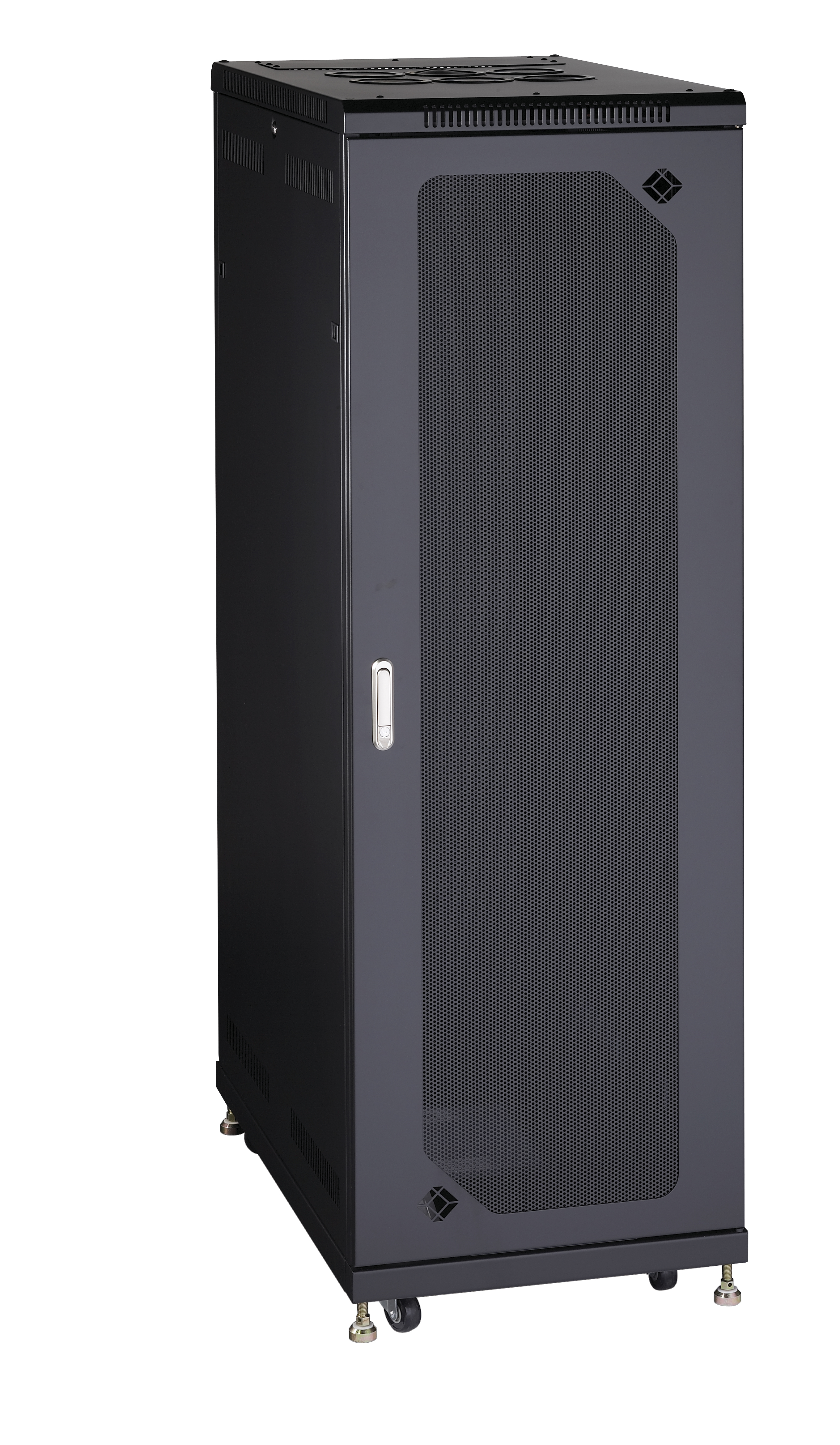 Server Cabinet 38u Split Rear Door Mesh Front Black Box