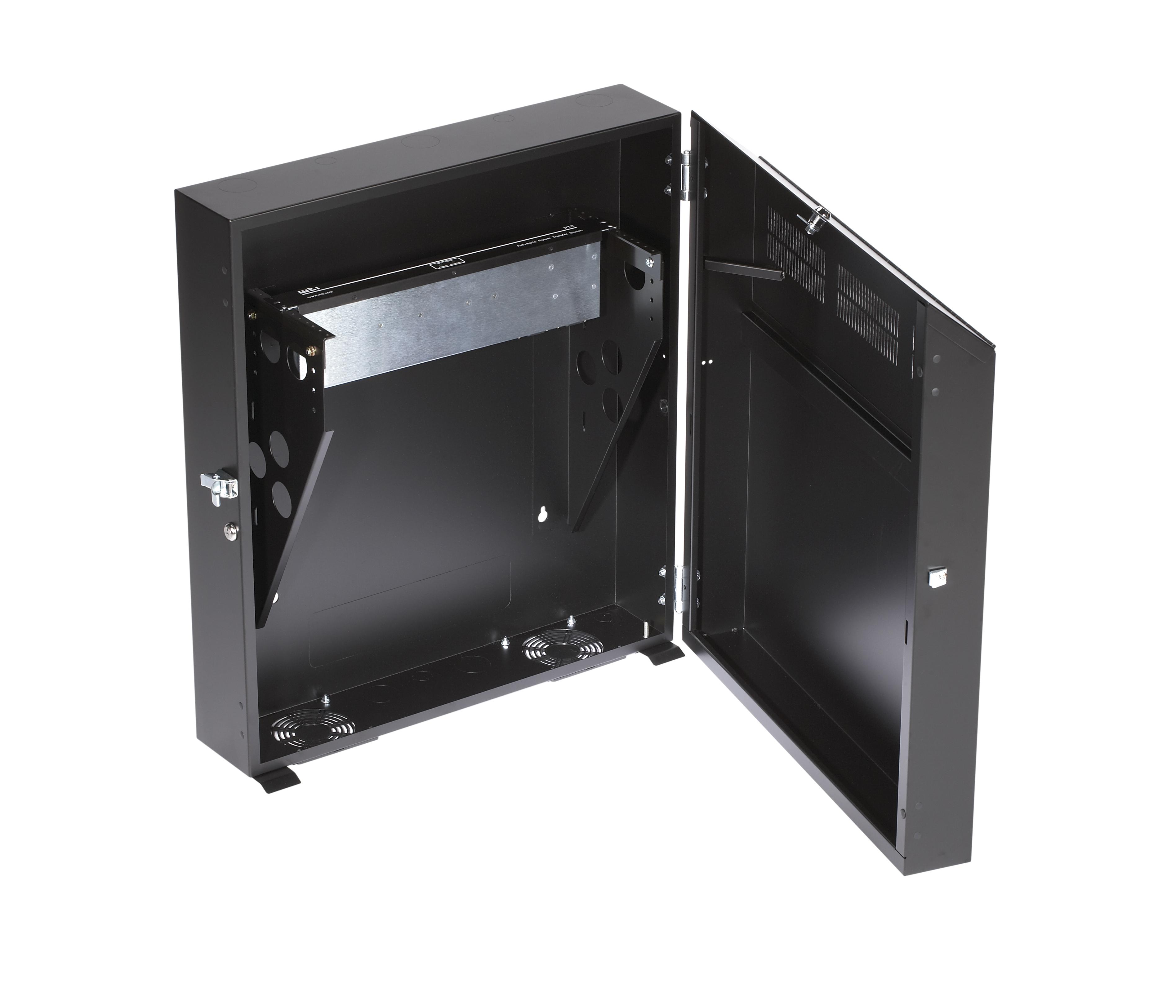 8u Wall Mount Cabinet 4u Wallmount Cabinet 2643w X 23d 10 32 Tapped Rails 150lbs