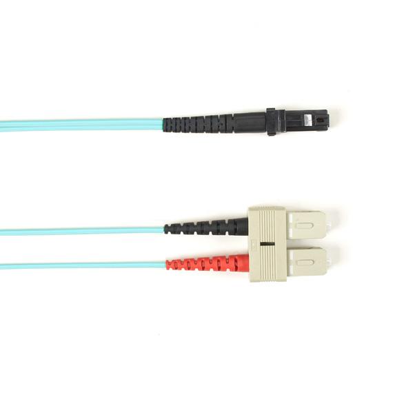 15 Meter Duplex Fiber Optic Patch Cable, Multimode, 50 Micron, OM3, LSZH, SCMT, Aqua, 15M (49.2-ft.)
