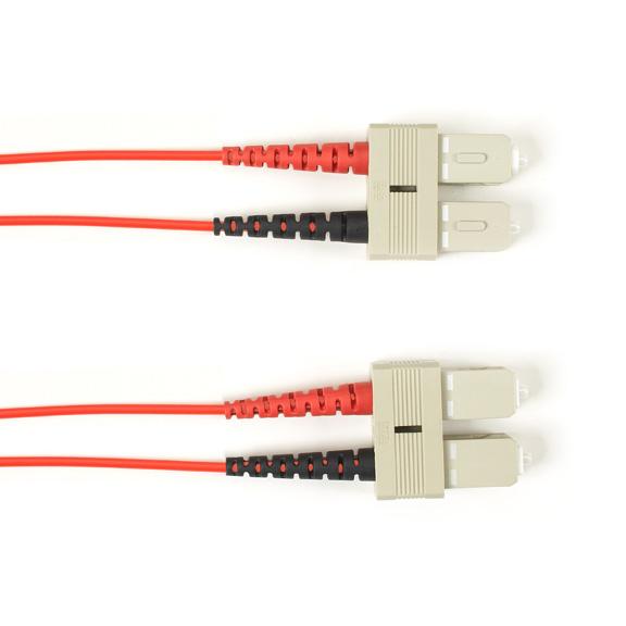 15 Meter Duplex Fiber Optic Patch Cable, Multimode, 50 Micron, OM4, LSZH, SCSC, Red, 15M (49.2-ft.)