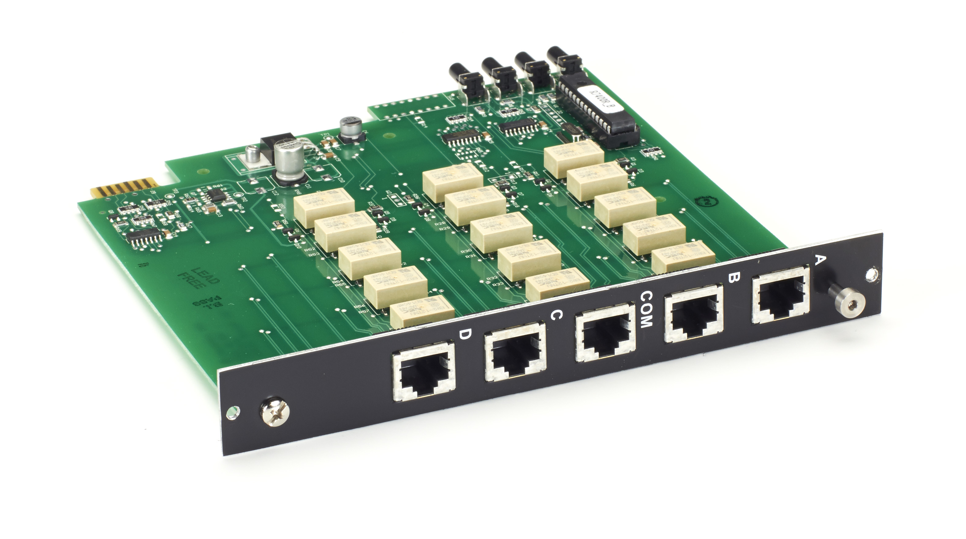 4u Gang Switch Rj45 Cat5e A B C D Card Latching Black Box Push Button Power Circuit Additional Product Image