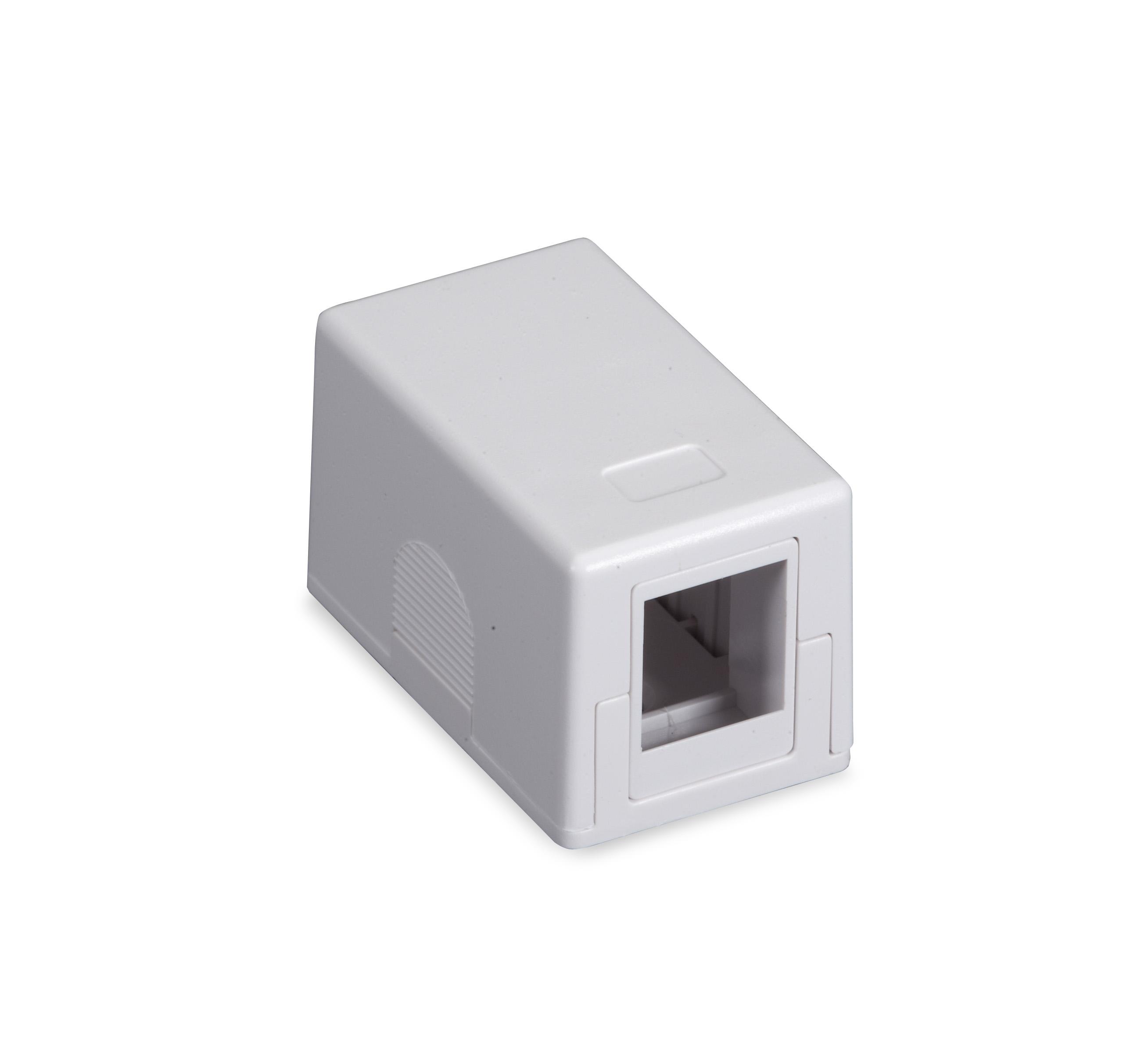 Black Box Connect RJ-45 Surface-Mount Housing - White, 1-Port