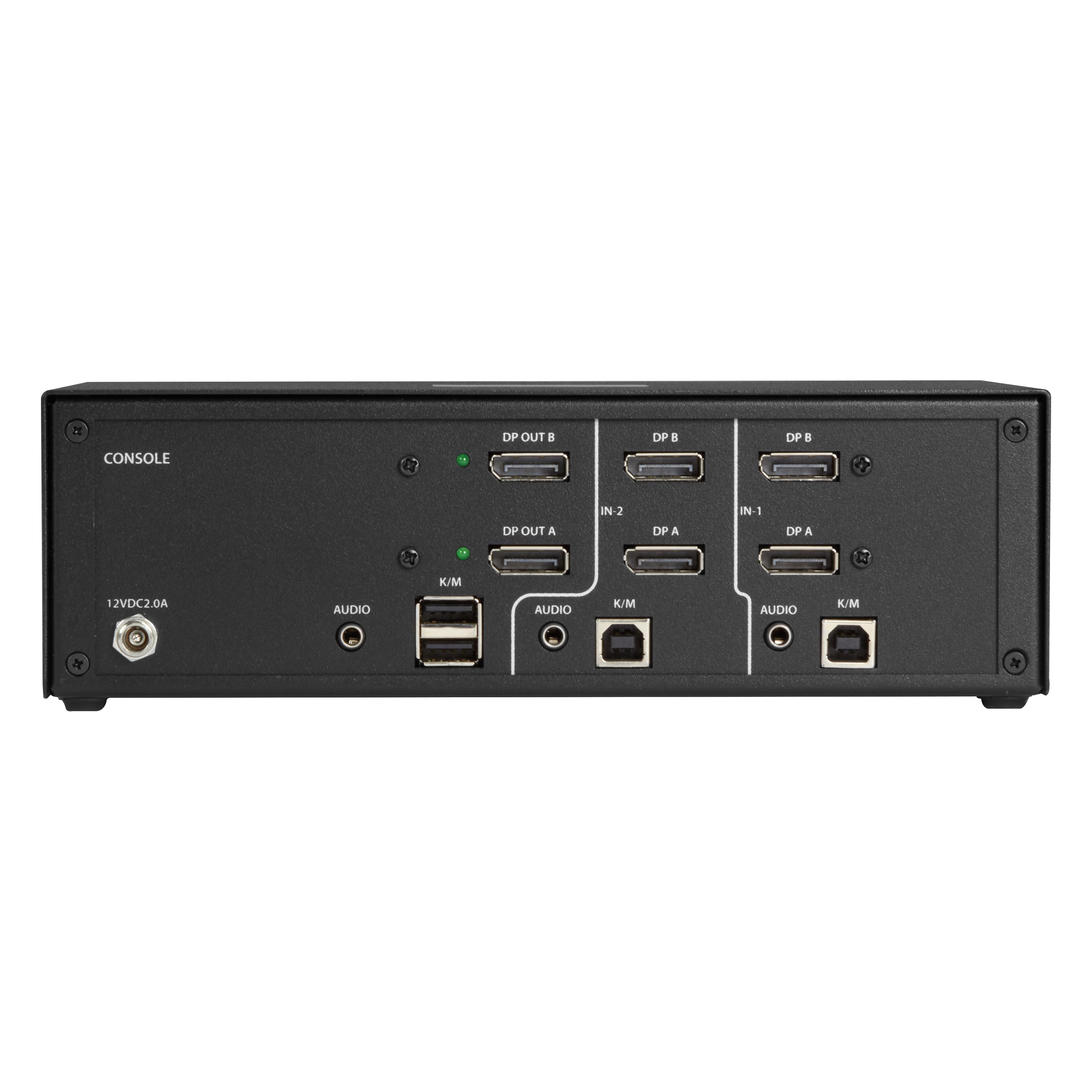 Secure NIAP 30 KVM Switch Dual Head DisplayPort 4K 2 Port