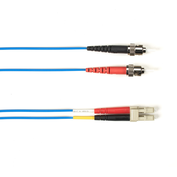 15 Meter Duplex Fiber Optic Patch Cable, Multimode, 50 Micron, OM3, LSZH, STLC, Blue, 15M (49.2-ft.)