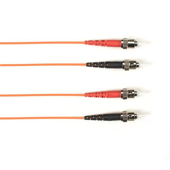 15 Meter Duplex Fiber Optic Patch Cable, Multimode, 50 Micron, OM3, LSZH, STST, Orange, 15M (49.2-ft.)