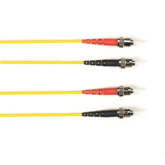 15 Meter Duplex Fiber Optic Patch Cable, Multimode, 50 Micron, OM3, LSZH, STST, Yellow, 15M (49.2-ft.)