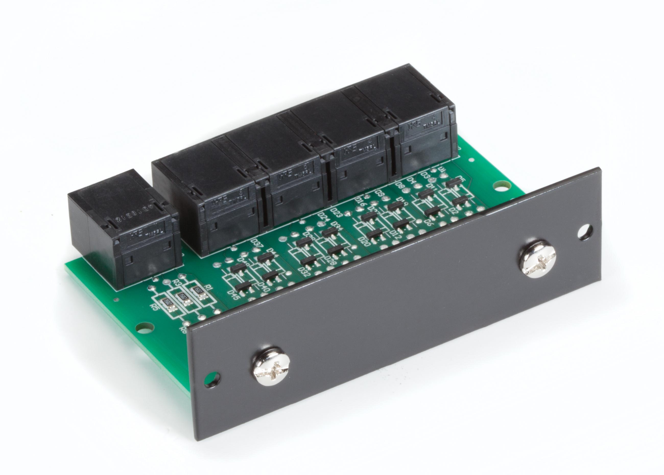 4 Port RS232 RJ45 Passive Splitter Rackmount Card