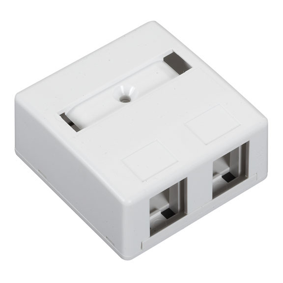 Surface-Mount Housing, 2-Port, White