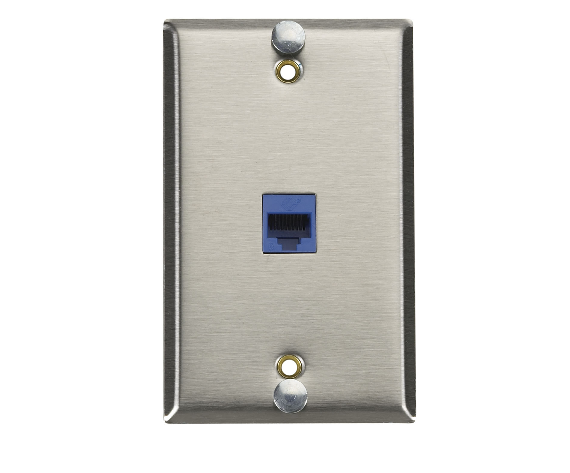 CAT6 VoIP Stainless Steel Wallplate | Black Box