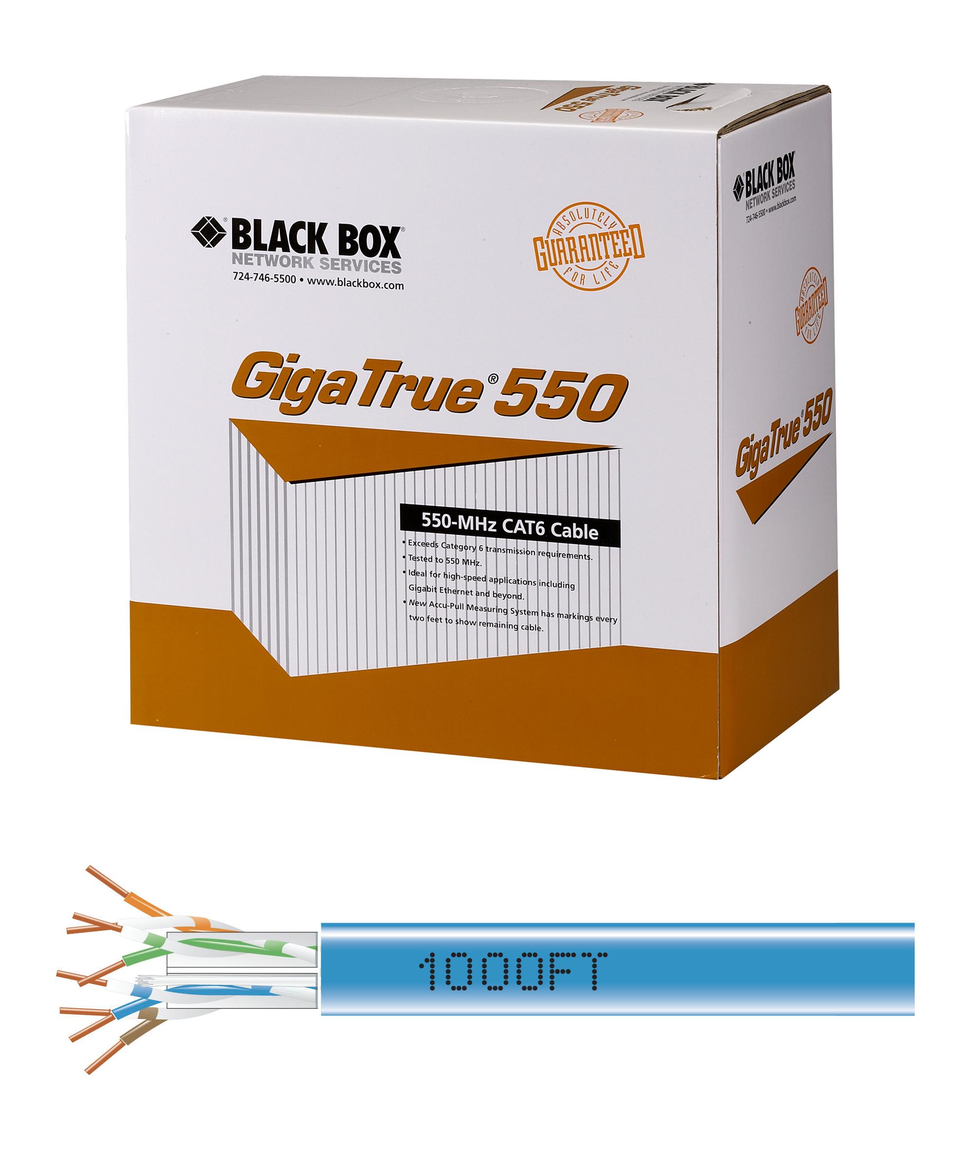Cat6 550 Mhz Solid Bulk Cable Violet Pvc Utp Gigatrue I Black Box Gigabit Ethernet Wiring Additional Product Image