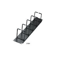 "Horizontal IT Rackmount Cable Manager - 2U, 19"", Single-Sided, Black"