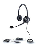 Jabra Headset, UC Voice 750 Duo, Dark