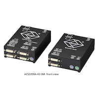 KVM Extender - DVI-D, PS/2, Dual-Access, Single-Mode Fiber