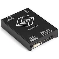 KVM Extender Receiver - DVI-D, USB, Dual-Access, CATx
