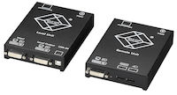 KVM Extender - DVI-D, USB, Dual-Access, CATx