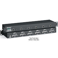 KVM Extender Hub - 6-Port, VGA, PS/2, RS232, Audio, Rackmount, Dual-Access, CATx