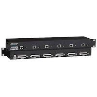 KVM Extender Hub, 12-Port, VGA, PS/2, Rackmount, Single-Access, CATx