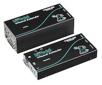 KVM Extender, Wizard Series, VGA, PS/2, RS232, 2-Way Audio, Dual-Access, CATx