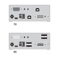 KVM Extender - DVI-D, (4) USB HID, Single-Access, Singlemode Fiber, Audio