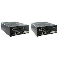 DKM Compact KVM Extender - DVI-D, USB HID, Digital Audio, Single-Access, CATx