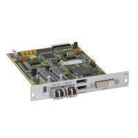 DKM FX Modular KVM Extender Receiver Interface Card - DVI-D and USB HID with Redundant Fiber