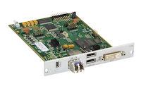 DKM FX Modular KVM Extender Receiver Interface Card - DVI-I, VGA, USB HID, Single-Mode Fiber