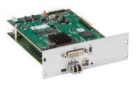 DKM FX Modular KVM Extender Transmitter Interface Card - DVI-D, USB HID, IR, Single-Mode Fiber