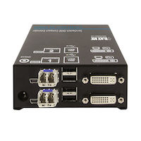 Compact KVM Extender Receiver, Dual DVI-D, (4) USB HID, (2) HS SM Fiber at 2.5 Gbps