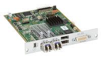 Modular KVM Extender Receiver Interface Card - Dual-Head DVI-D, USB-HID, 2x Single-Mode Fiber