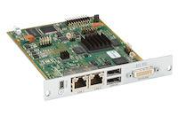 Modular KVM Extender Receiver Interface Card - Dual-Link DVI-D, USB-HID, 2X CATx