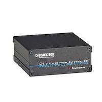 KVM Extender Receiver - DVI-I, USB-HID, Dual-Access, CATx
