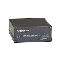 KVM Fiber Extender Receiver - DVI-D, USB, Audio, Dual-Access