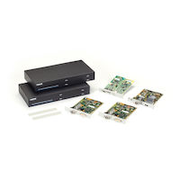 KVM Extender Kit - DVI-D Dual-Head Video, USB HID, Embedded USB 2.0, RS232, Audio