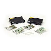 KVM Extender, DisplayPort 1.2 4K60, USB HID, USB 2.0, SM Fiber