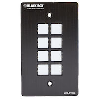 Wallplate Control Panel - RS-232, 8-Button