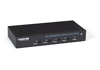 4 x 1 DisplayPort Switch with Serial and Audio